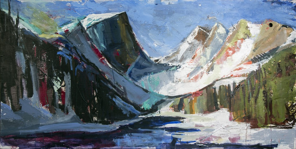 Rocky Mountain National Park_36x72, Acrylic on Plywood